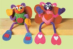 Love bugs craft for kids for Valentine's Day! good way to use some of those templates we got from the art teacher
