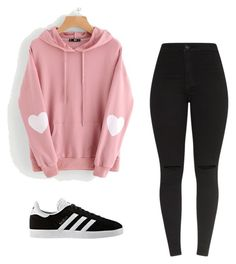 """Outfit"" by vicky-skoufh on Polyvore featuring WithChic and adidas"