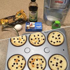Meal prepped my dessert for the week! #priorities #keto #lchf #lowcarb #ketogenic #ketosis  ______________________________________ Chocolate chip cheesecake muffin tops  1 package cream cheese softened  1/4 cup powdered erythritol  2 squirts stevia  1 egg  1 teaspoon vanilla 60 sugar free chocolate chips Preheat oven 350 degrees and spray muffin top pan with oil.  Blend all ingredients well. Pour into muffin top pan. Top each muffin with 10 chocolate chips. Bake for 12-15 minutes. Mine oven…