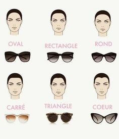 How to choose your sunglasses? According to his type of face - glasses 2019 Glasses For Oval Faces, Glasses For Your Face Shape, Glasses Frames, Lunette Style, Winter Typ, Most Beautiful Words, Fashion Eye Glasses, Mode Outfits, Mode Inspiration