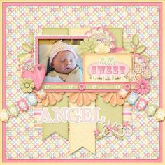 On Sale Sweet Baby Girl Digital Scrapbook Kit Collection or Bundle for Digital Scrapbooking and Paper Crafting Album Scrapbook, Papel Scrapbook, Scrapbook Templates, Digital Scrapbooking Layouts, Scrapbook Designs, Scrapbook Page Layouts, Baby Girl Scrapbook, Baby Scrapbook Pages, Kids Scrapbook