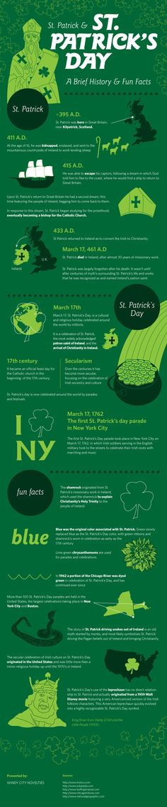 St. Patrick & St. Patrick's Day: A Brief History & Fun Facts [INFOGRAPHIC]