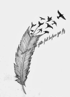 birds flying from feather tattoo meaning