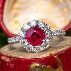 Details about  /2Ct Cushion Cut Red Ruby Solitaire Engagement Ring In 14K Rose Gold Finish