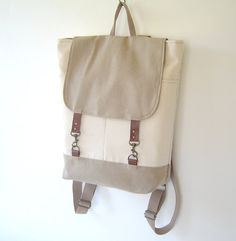Ivory Beige Backpack
