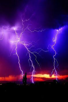 Purple lightning