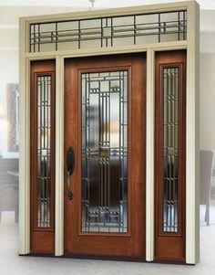 Maximizing Curb Appeal w/ New Entry Doors modern front doors Fiberglass Entry Doors, Wood Entry Doors, Front Door Entrance, Glass Front Door, Front Doors, Garage Doors, Modern Front Door, Front Door Design, Exterior Remodel