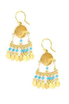 Chan Luu - Turquoise Dangle Earrings, $170.00 (http://www.chanluu.com/earrings/turquoise-dangle-earrings/)