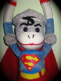 Super Sock Monkey. I want this. Like right now. He's so cute <3