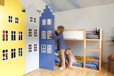 Wnętrza Zewnętrza - blog wnętrzarski: Bajkowy pokój dziecięcy Loft, Kids Rugs, Children, Bed, Poland, Furniture, Interiors, Home Decor, Living Room