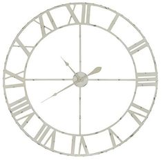 Annency Clock Aged Cream Finish with Gray Undertones