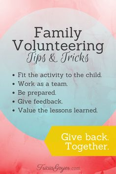 Author Tricia Goyer shares some tips and tricks and more resources for family volunteering. Love My Family, Family Life, Strong Family, Family Mission Statements, Service Projects For Kids, Parenting Books, Parenting 101, Family Bonding, Family Night
