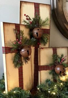 Christmas Present Decor Rustic Farmhouse Christmas Decor Distressed Christmas De.- Christmas Present Decor Rustic Farmhouse Christmas Decor Distressed Christmas Decorations Christmas Decor – Noel Christmas, Christmas Presents, Christmas Lights, Christmas Wreaths, Christmas Ornaments, Christmas 2019, Christmas Porch, Christmas Quotes, Handmade Christmas