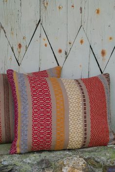 These hand woven striped cushion add texture and colour to your sofa. - these cushions are delightful