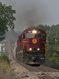 Arkansas & Missouri C420 66 leads three sisters and an ex-CN M420 on the southbound freight