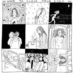 New York-based illustrator Hallie Batemen draws to communicate her ideas. Art And Illustration, Illustrator, Realistic Eye Drawing, Close Your Eyes, Photo Instagram, Art Inspo, Just In Case, Comic Art, Art Drawings