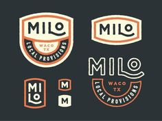 Milo Local Provisions the variety of shape and the bold color impact make this a great reference point for a memorable branding experience. Brand Identity Design, Corporate Design, Branding Design, Identity Branding, Brochure Design, Visual Identity, Corporate Branding, Packaging Design, Typography Logo