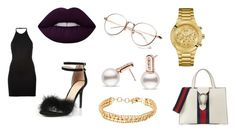 """""""Untitled #71"""" by shiyafrazierx on Polyvore featuring Balmain, Gucci, GUESS and Elizabeth Cole"""