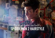 andrew garfield spider man 2 hairstyle
