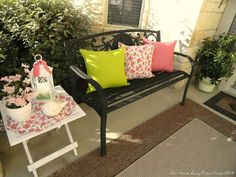Our Home Away From Home: SPRING ON THE FRONT PORCH