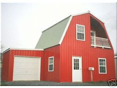 INSULATED!  Galvanized STEEL GAMBREL BUILDING KIT CABIN-can add garage later . Another great kit from another interesting eBay seller. Great source.