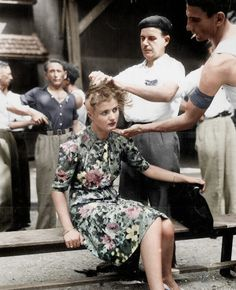 Punishment for collaboration with the nazis, Montelimar 1944.