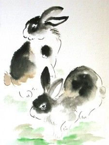 Two Rabbits by Charlotte Fung-Miller