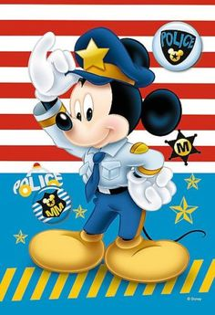 Officer Mickey Walt Disney, Disney Mickey Mouse, Disney Pixar, Disney Marvel, Arte Do Mickey Mouse, Mickey Love, Mickey Mouse And Friends, Mickey Mouse Wallpaper, Disney Wallpaper