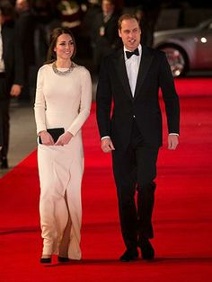 """Kate and William arrive to attend the UK premiere of the movie """"Mandela:Long Walk to Freedom"""" at a cinema in London on December 5, 2013."""
