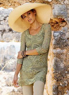túnica crochet irlandés