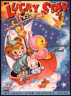 Vintage Children's Coloring Book
