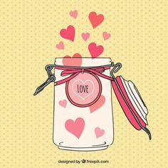 Jar com corações