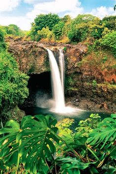 Located on the northern outskirts of Hilo on the Big Island of Hawaii, Rainbow Falls has an 80-foot drop and is known for the rainbows that are formed in the surrounding mist!