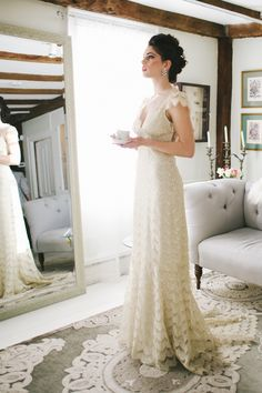 Vintage Lace Claire Pettibone Gown | photography by http://www.michellegardella.com/