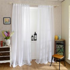 White Window Tulle – Home decor