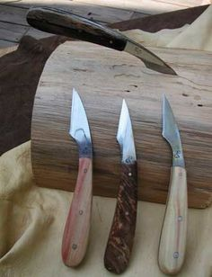 Wood carving knives: