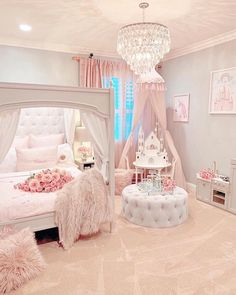 Gorgeous beautiful princess room The pink bedroom look is perfectly pulled of. Gorgeous beautiful princess room The pink bedroom look is perfectly pulled off. This awesome bedroom is a sight to behold. Cute Bedroom Ideas, Cute Room Decor, Girl Bedroom Designs, Awesome Bedrooms, Girls Room Design, Nursery Ideas, Design Bedroom, Girl Decor, Bed Design
