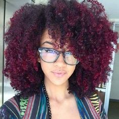 black red ombre curly coily natural hair color for winter