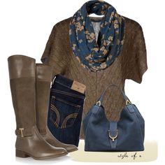 """""""Teal Floral Snood"""" by styleofe on Polyvore"""