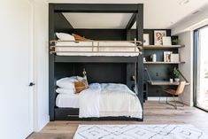 BUNK BEDS - If you are looking for `Bunk bed Ideas for Modern Bedroom`then this the right place to find out `bunk beds with desks`,`bunk beds for girls`, `Ik. Girls Bunk Beds, Bunk Bed Rooms, Bunk Beds Built In, Bunk Bed With Desk, Modern Bunk Beds, Kid Beds, Modern Bedroom, Bedrooms, Bedroom Small