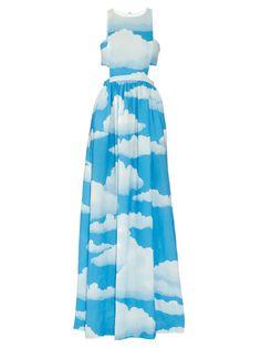 Cloud-print linen racer-back maxi dress   Mara Hoffman   MATCHESFASHION.COM