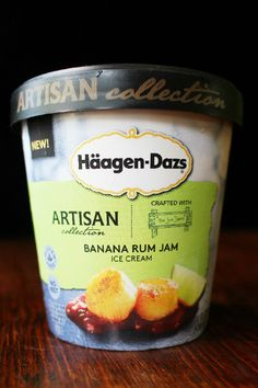Haagen Dazs Banana Rum Jam Ice Cream Package