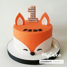 Great Photo of Fox Birthday Cake . Fox Birthday Cake Fox Theme Birthday Cake K Noelle Cakes Cakes K Noelle Boys 1st Birthday Party Ideas, Baby Birthday Cakes, Baby Boy 1st Birthday, Fox Cake, Fox Party, First Birthdays, Baby Shower, Fondant, Cupcake