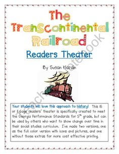 Readers Theater for The Building of the Transcontinental Railroad product from Susan-Hardin on TeachersNotebook.com