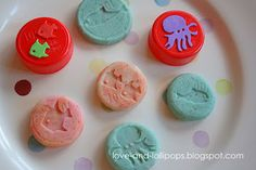 Play Dough Cookies (made with bottle tops)