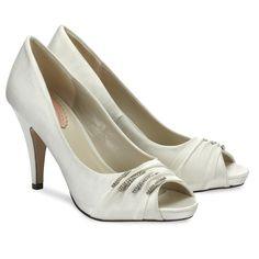 Pink Paradox Debbie Ivory - Wedding Shoes - Crystal Bridal Accessories