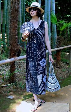 「紗季2号」・黒地有松鳴海絞り朝顔模様 | 紗季 | Shop Ethnic Fashion, Kimono Fashion, Asian Fashion, Casual Outfits, Cute Outfits, Fashion Outfits, Kimono Fabric, Office Fashion Women, Kawaii Fashion