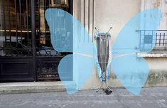 French artist Sandrine Estrade Boulet photographs everyday objects on the streets of Paris and then draws over them to give new meaning to ordinary things like street posts, pavement cracks or even a broken umbrella