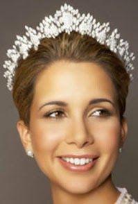 Tiara Mania: Diamond Halo Tiara worn by Princess Haya of Jordan