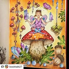#Repost @booktalk27 with @repostapp  ・・・  Finished my crystal  fairy ✨ from #čarovnélahodnosti @klaramarkovajewels #kláramarková  I used #prismacolor on it all with a bit of white gel pen ✏ This was a fun color along with dear friends @eyeloveit00 @blonndi1231  #klaramarkova #magicaldelights #magicaldelightscoloringbook #carovnelahodnosti #art #loveart #lovecoloring #coloringoninstagram #fangcolorfulworld #divasdasartes #instaart #colorindooinstagram #mycreativeescape #adultcoloring #...